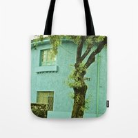 colombia Tote Bags featuring COLOMBIA BOGOTA TYPICAL HOUSE by Alejandra Triana Muñoz (Alejandra Sweet