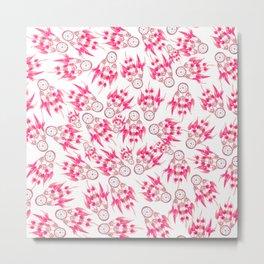 Hipster pink vintage dreamcatcher pattern  Metal Print