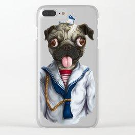Pug Goyo Clear iPhone Case