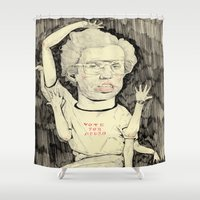 napoleon Shower Curtains featuring Napoleon Dynamite by withapencilinhand