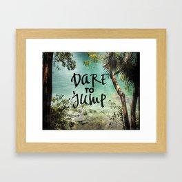Dare to Jump Framed Art Print