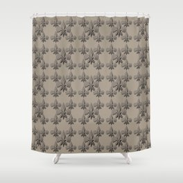 Nola fleur de lis triple brown Shower Curtain