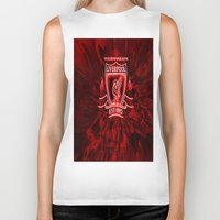 liverpool Biker Tanks featuring LIVERPOOL LOVER by Acus