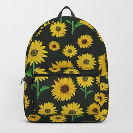 Sunflower Print Backpack