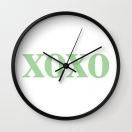 Mint XOXO Wall Clock