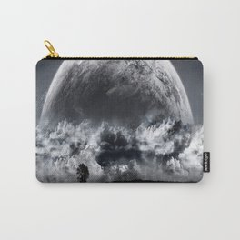 Giant Moon through the clouds Carry-All Pouch