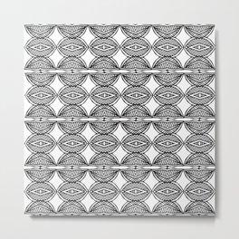 African ethnic geometric pattern 1 Metal Print