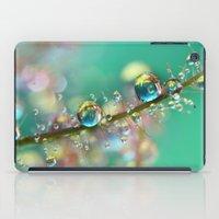 anaconda iPad Cases featuring Smokey Rainbow Drops by Sharon Johnstone