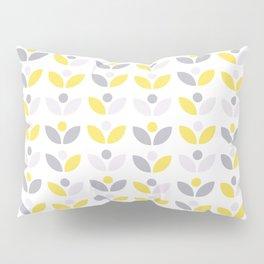 Yellow and Grey Abstract Flower Pattern #society6 #decor #buyart #artprint Pillow Sham