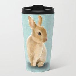 Portrait of a little bunny Travel Mug