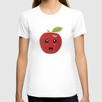 kawaii T-shirts featuring Kawaii Apple by Nir P