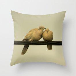 loving doves Throw Pillow