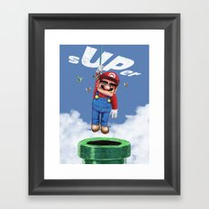 UP from the pipe Framed Art Print