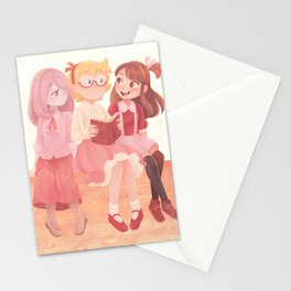 Witches in Pink Stationery Cards