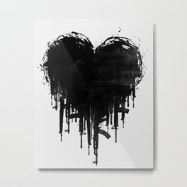Dark Heart Metal Print