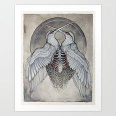 Coalesce art print  Art Print