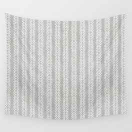 Mud cloth - Grey Arrowheads Wall Tapestry