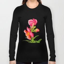 Pink Snapdragon Long Sleeve T-shirt