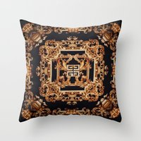 givenchy Throw Pillows featuring Fancy Givenchy by Goldflakes