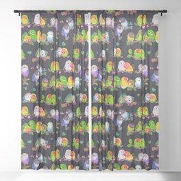 Lovebird - dark Sheer Curtain