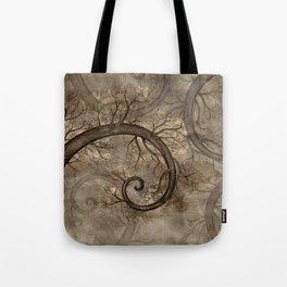 Golden Spiral Tree #2 Tote Bag