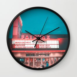 Fairfax red Wall Clock
