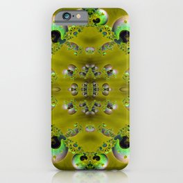 SeaShell Pearls Green iPhone Case