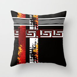 Abstraction .Weave . Patchwork . Throw Pillow