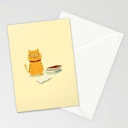 Nerdy Cat Stationery Cards