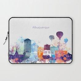 Colorful Albuquerque skyline design Laptop Sleeve