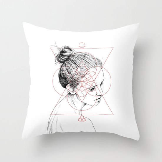 Face Facts II Throw Pillow