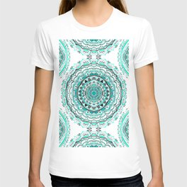 Supernova-In Teal, Aqua, & Mint T-shirt