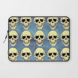 Skulls at the party - teal Laptop Sleeve
