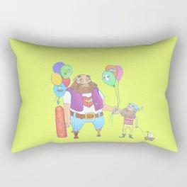 Kid pirate and huge pirate! Rectangular Pillow