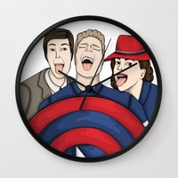 agent carter Wall Clocks featuring Team Carter by HayPaige