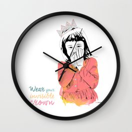 The Invisible Crown Wall Clock