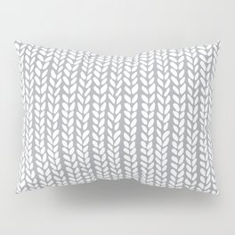 Knit Wave Grey Pillow Sham