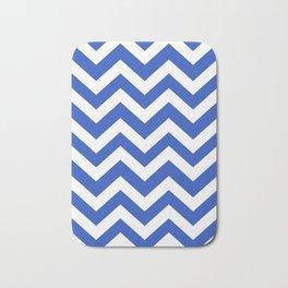 Cerulean blue - blue color - Zigzag Chevron Pattern Bath Mat