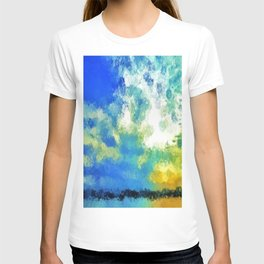 feathered horizon T-shirt