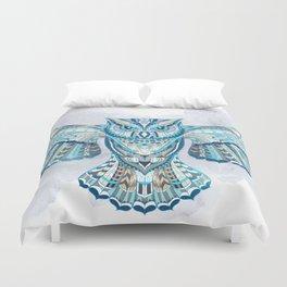Blue Ethnic Owl Duvet Cover