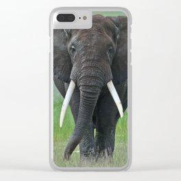 Ngorongoro Ele Clear iPhone Case