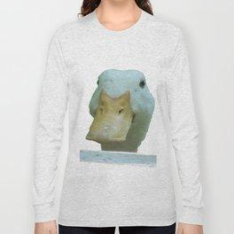 Peeking Duck Vector Long Sleeve T-shirt