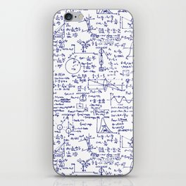 Physics Equations in Blue Pen iPhone Skin