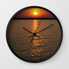 Sunset, DeGray Lake, Arkansas Wall Clock