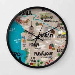 Metro Manila, Philippines Wall Clock