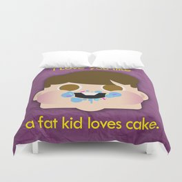 Fattycake love Duvet Cover