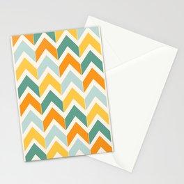 Citrus Chevron Stationery Cards