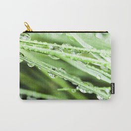 After The Rain - Green Macro Carry-All Pouch