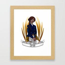 Steampunk Occupation Series: Captain Framed Art Print