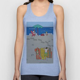 Afternoon at the beach (a) Unisex Tank Top